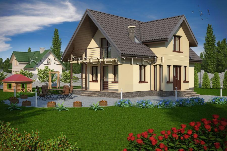 Красивые дома с мансардой и балконом фото